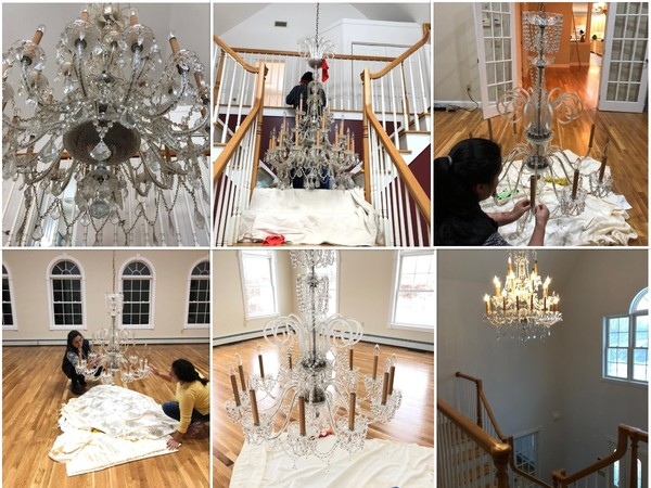 Chandelier Cleaning in Danbury CT (1)